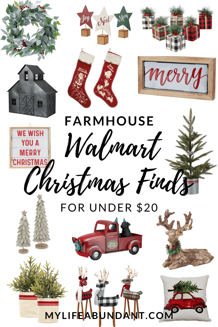 Farmhouse Walmart Christmas Finds For Under 20 Walmart Christmas Decorations Christmas Decor Diy Christmas Decorations