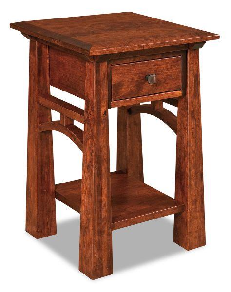 Artesa Open Nightstand shown in Brown Maple Bedroom Furniture