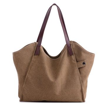 Hot-sale designer Casual Durable Thicker Canvas Handbag Light Casual Large  Capacity Shoulder Bag For Women Online - NewChic Mobile a534ddc24b9bc