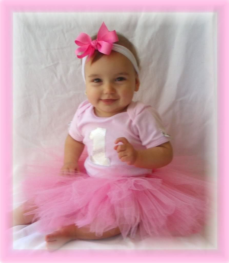 1c7d80588c40 1 1st First Birthday Girl Tutu Dress Fairy OutFit PINK