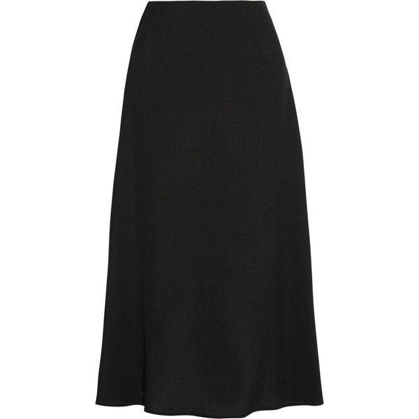 Rosetta Getty Flared crepe midi skirt (2.790 BRL) ❤ liked on Polyvore featuring skirts, midi flare skirt, midi skirt, flared midi skirt, flared skirt and calf length skirts