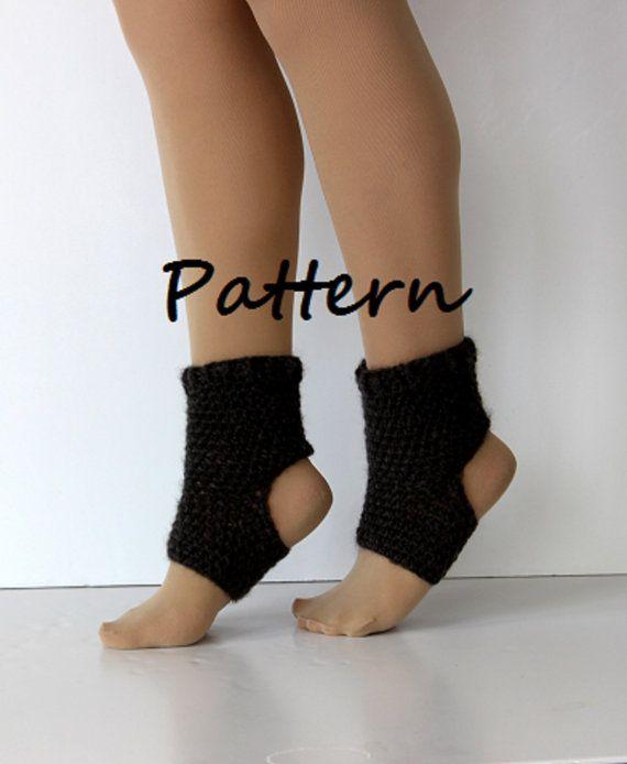 Yoga sock pattern DIY PDF crochet yoga sock by SienasMaineDesign ...