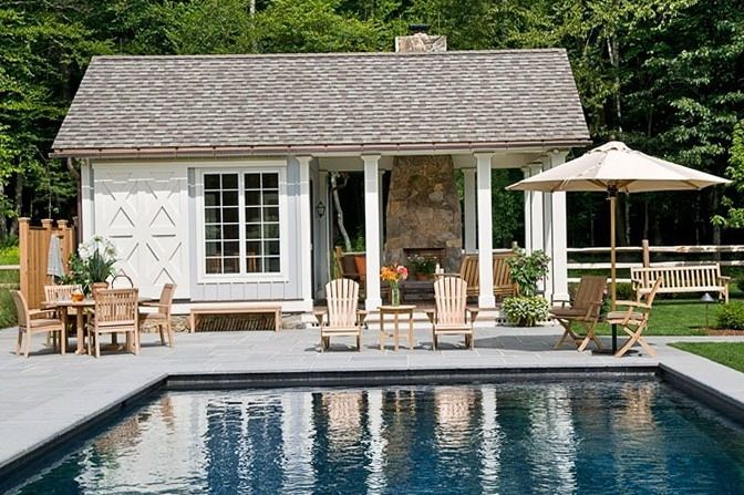 Pool At Home Pool Houses Small Pool Houses Pool House Designs
