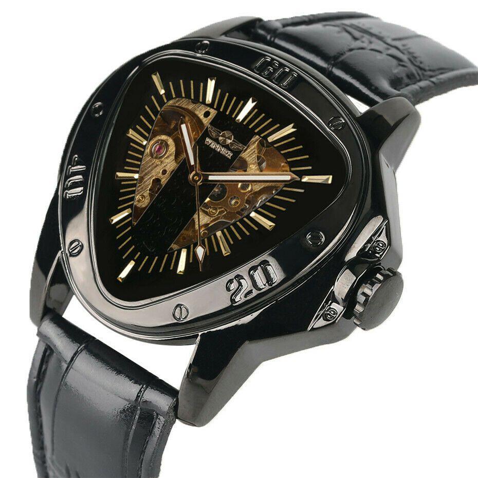 Details about Unique triangle mechanical watch