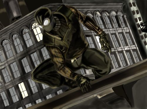Spiderman Noir by Shinnh on deviantART Noir spiderman