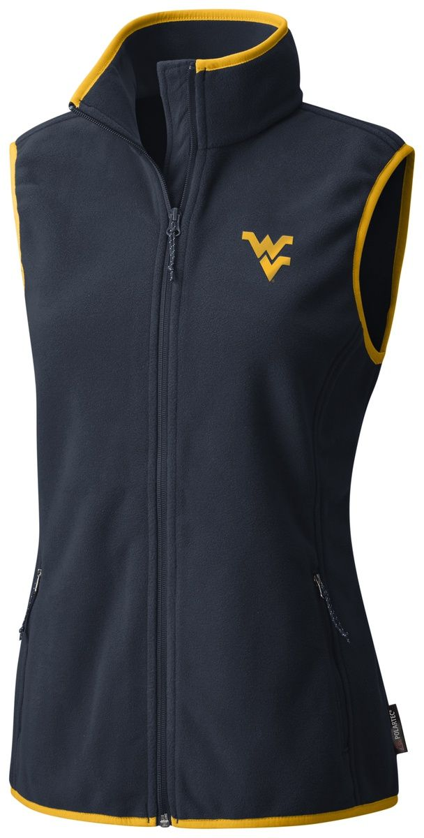 e54e47af6bdd1d Add to your cool whether gear with our women s Columbia WVU Fuller Ridge  vest. You