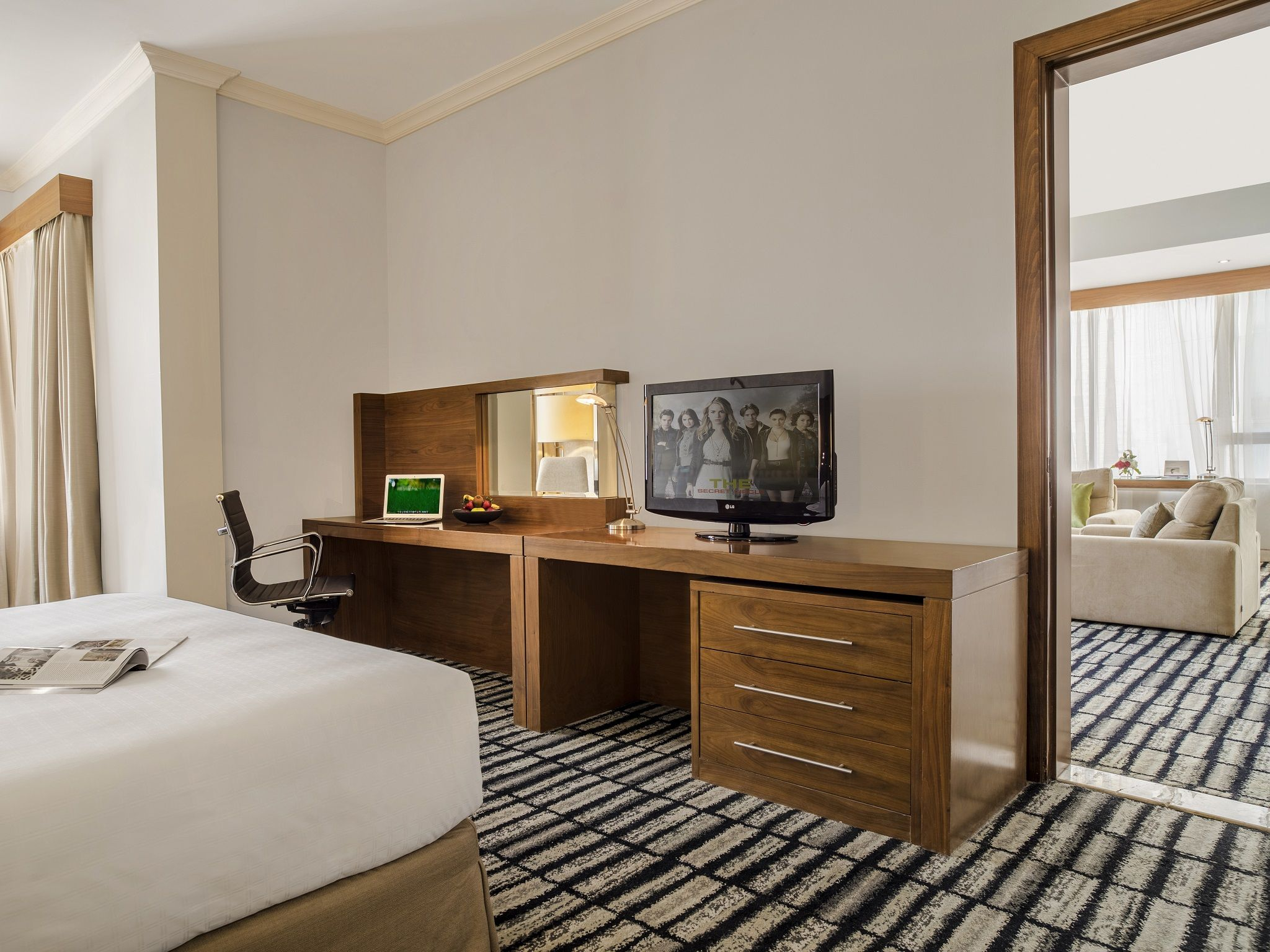 Take Pleasure In One Of Our Grand 98sqm Premium Suites Featuring One Bedroom With A King Bed Living Room Guest Bath Floor To Ceiling Windows One Bedroom Room