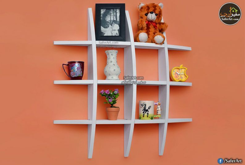 رف حائط مودرن شكل كروى سفير ارت للديكور Wall Shelf Rack Diy Wall Shelves White Wall Shelves