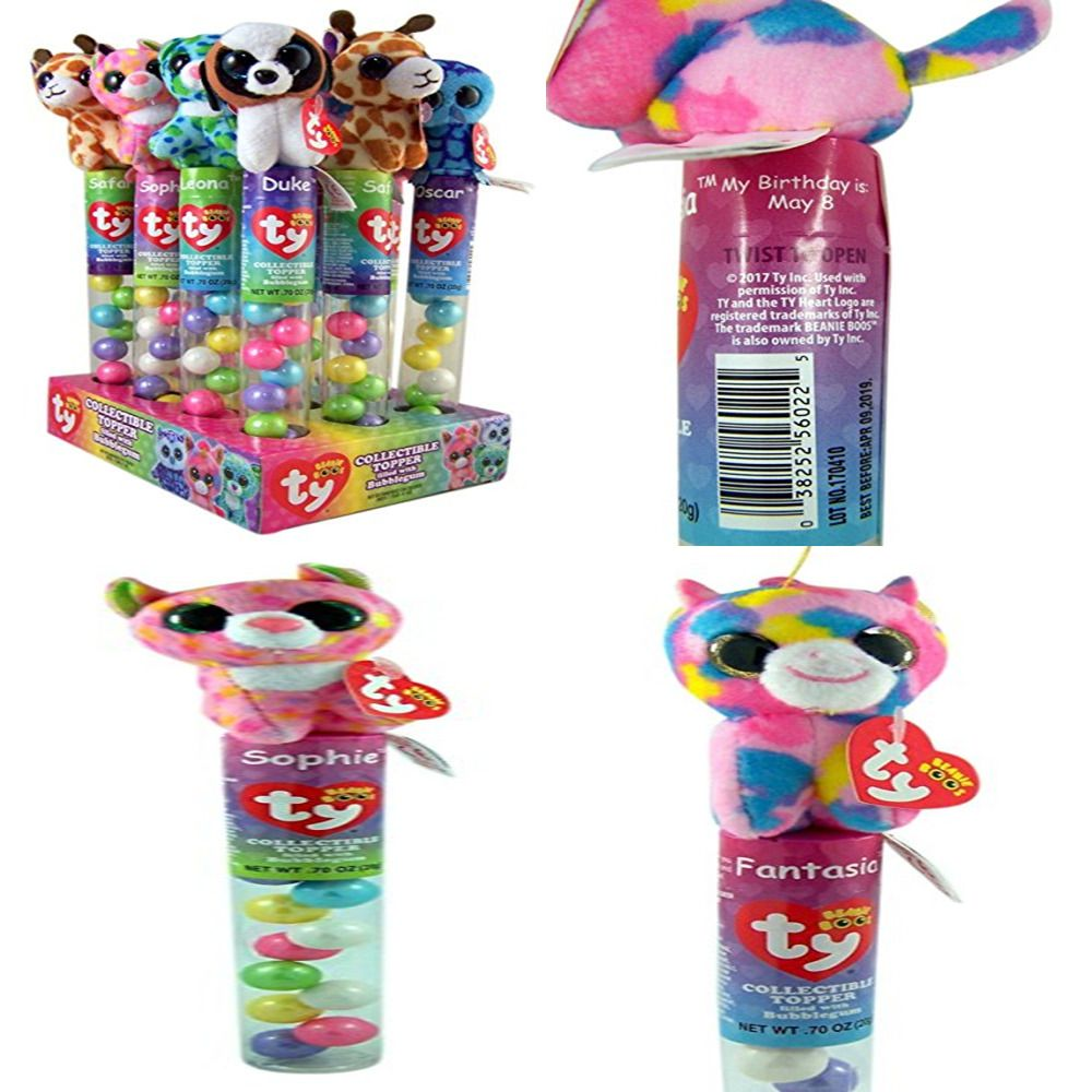 60c7e98a10 Flix Candy Ty Beanie Boos Collectible Plush Topper Tube W Bubblegum Pack Of  12  harrypotter  harry  book
