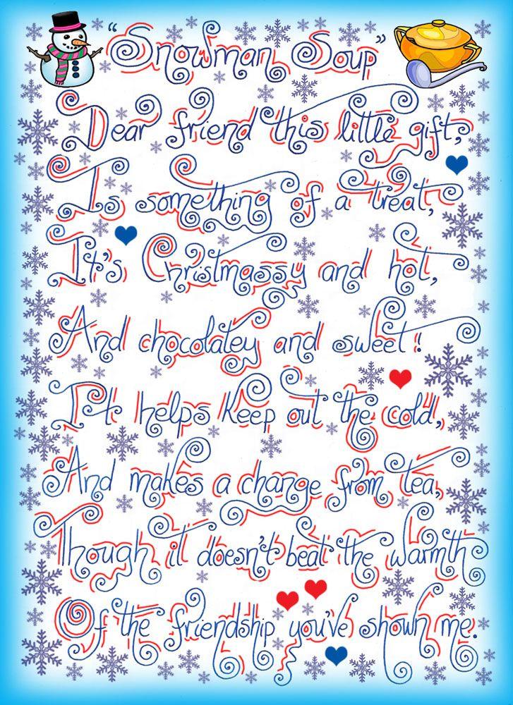 Snowman Soup Printable Snowman Soup Poem - Rooftop Post Free
