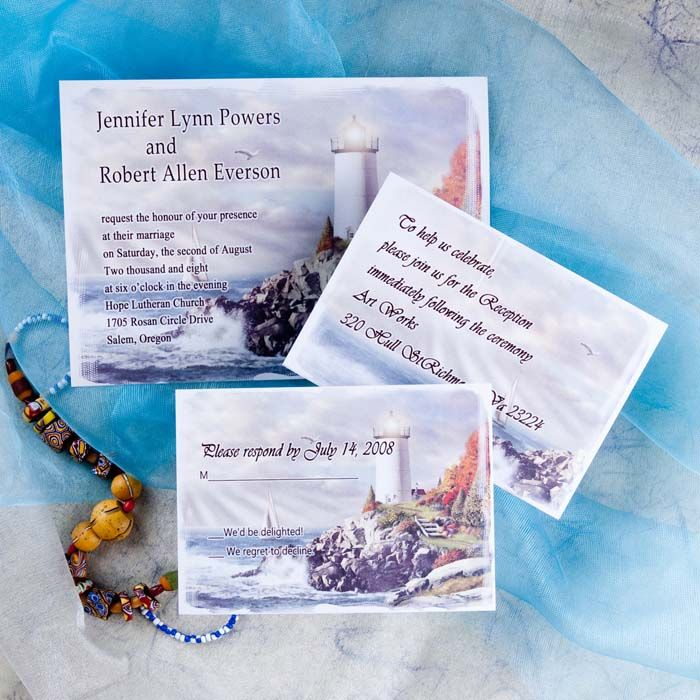 Lighthouse Wedding Invitations Insh029 Insh029 0 00