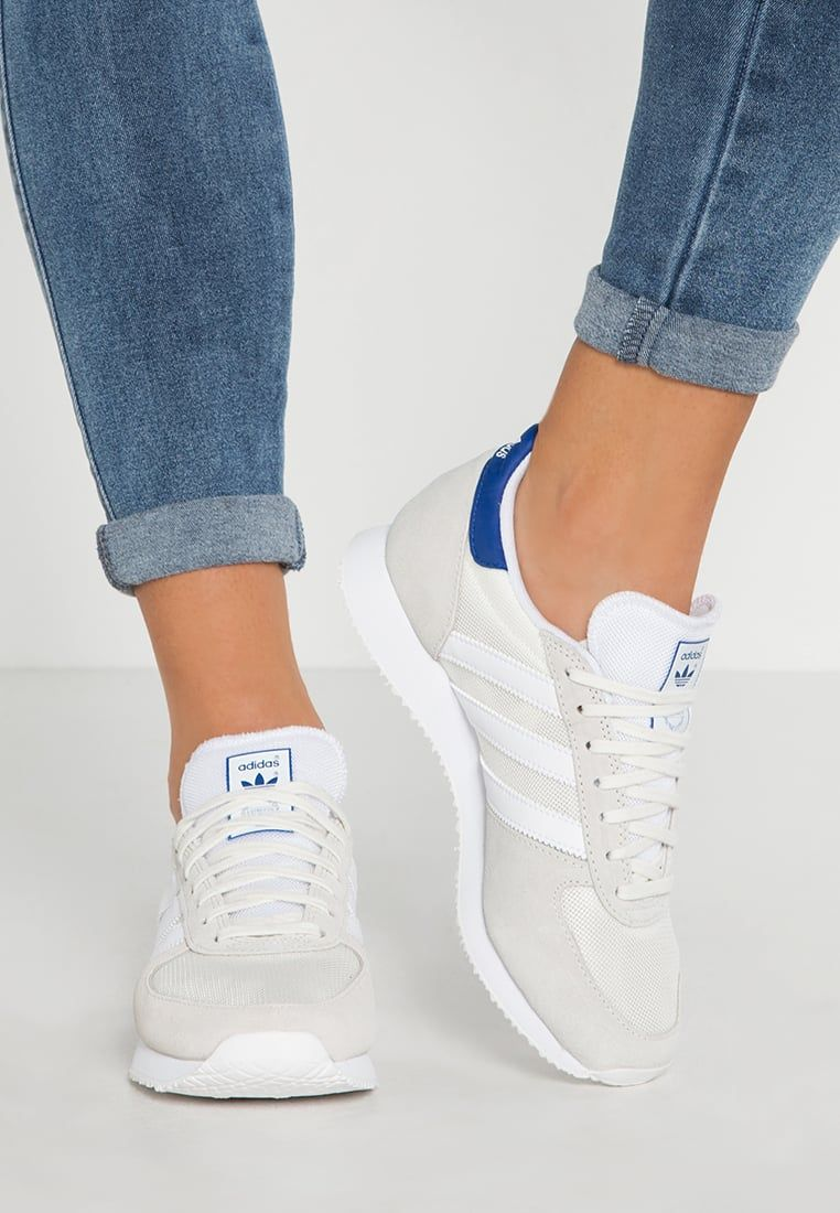 meet 1d196 2793d Adidas Originals ZX RACER Baskets basses offwhite white collegiate royal  prix promo Baskets femme Zalando 80.00 €