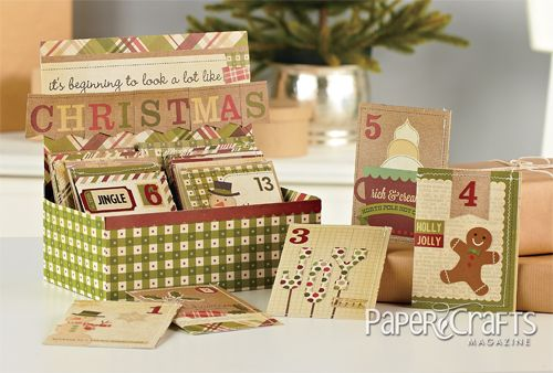 I like the boxincludes a template to download Advent Calendar
