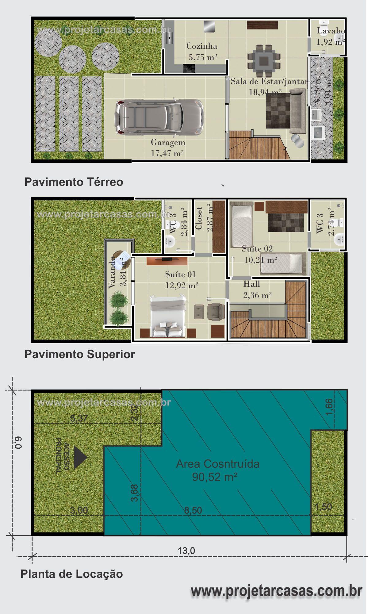 Projetarcasas Planta De Casas Planta Sobrado Loft 2 Su Tes 1