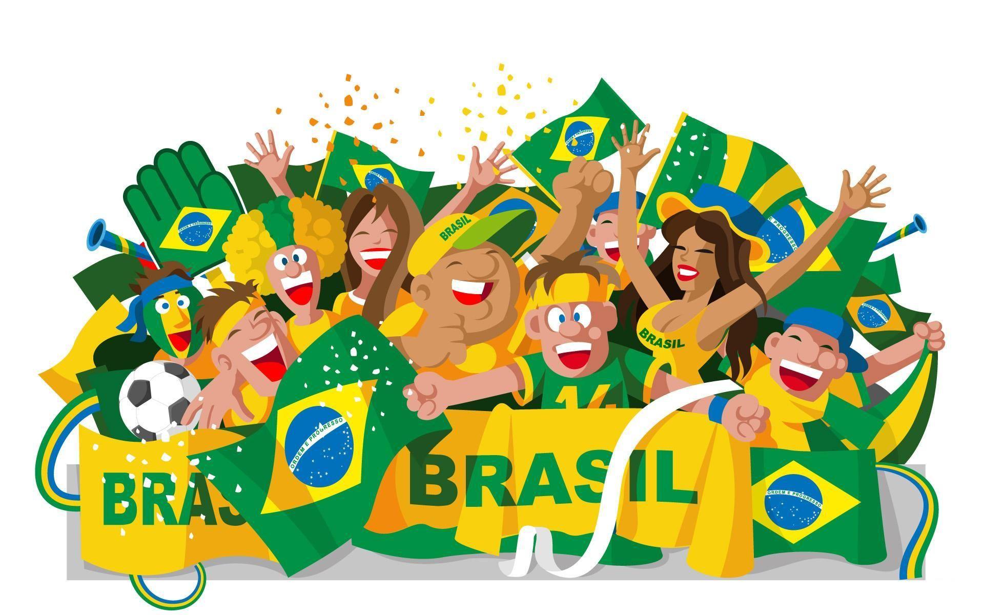Football World Cup 2014 Cartoons Wallpaper