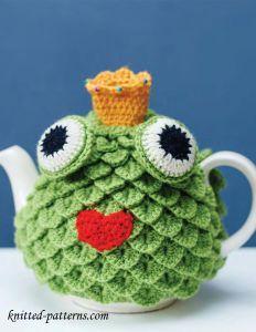Frosch Teekannenwärmer Tea Cozy Zum Häkelnauf Der Angegebenen