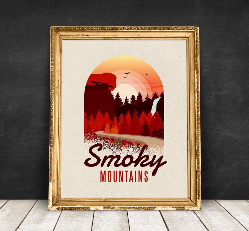 Photo of Great Smoky Mountains National Park affiche, impression de v…