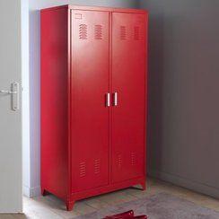 armoire vintage rouge | Pour ma chambre | Pinterest | Intérieur ...