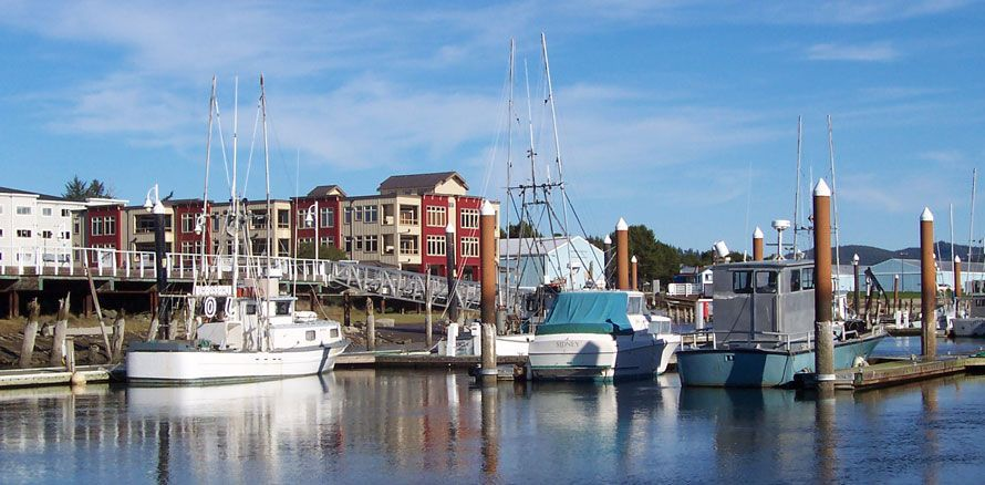 Florence oregon is a small idyllic town on the central