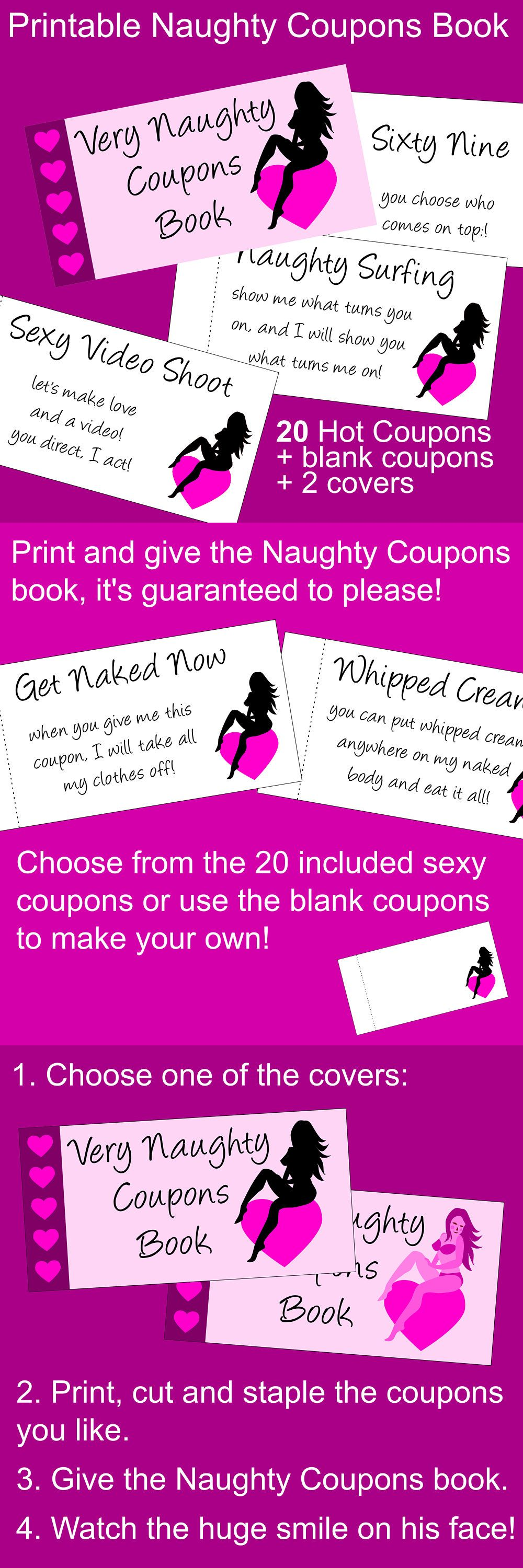 Naughty Coupon Book   Printable Coupons For Boyfriend