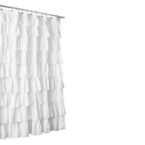 Lush Decor Large Ruffle Shower Curtain Target