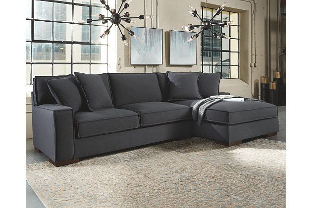 Ashley Homestore Gamaliel 2 Piece Sectional Distinctive Elements Include A Sultry Charcoal Hued Upholste Living Room Sofa Ashley Furniture Grey Sectional Sofa
