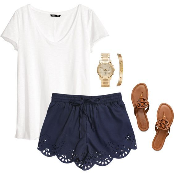 30 Fresh Summer Outfit Ideas To Start Wearing Now Shorts Outfits