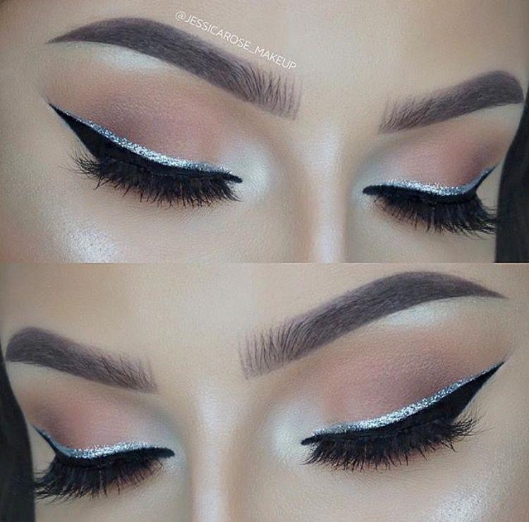 Photo of ✧ pinterest: bellaxlovee ✧  Blush Eyeshadow  Eyeliner  Glitter eyeliner  Day…