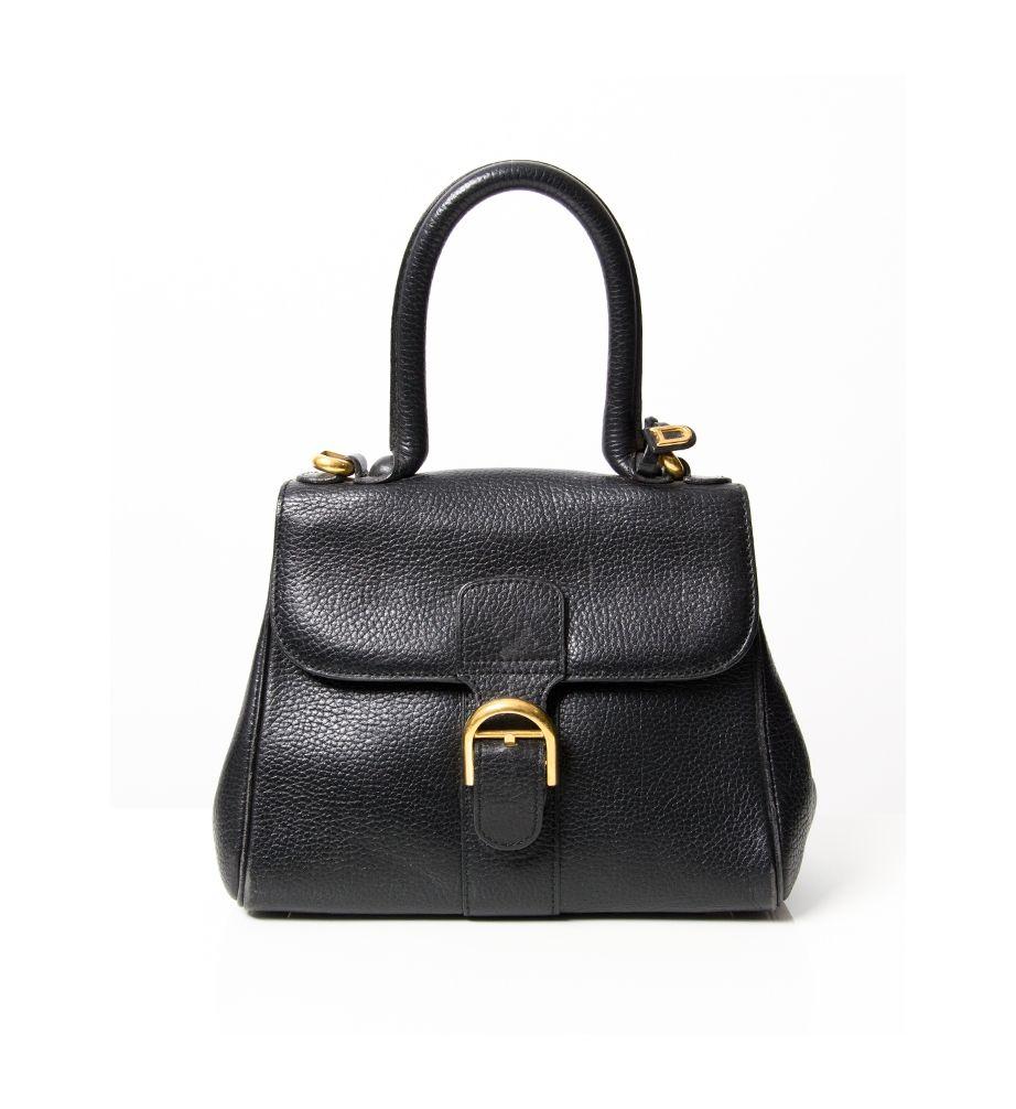 Soon Online Www Labelcrush Com Vintage Delvaux Black Brilliant Mini Box Leather Handbag Labelcrush Tassen