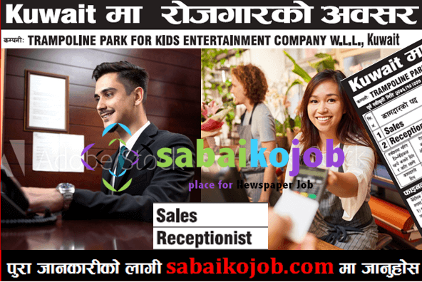 Salary 45 000 1 Company Trampoline Park For Kids Entertainment Company Wll Kuwait Lt No 230892 Post N Receptionist Jobs Kuwait Kids Entertainment