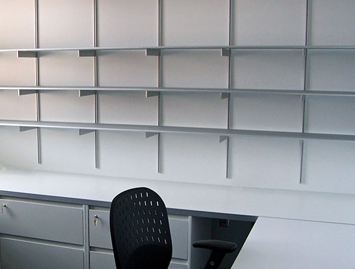 Customize Your Office Wall Shelving With Rakks Shelf Brackets Supports And Standards Are Available In All Sizes