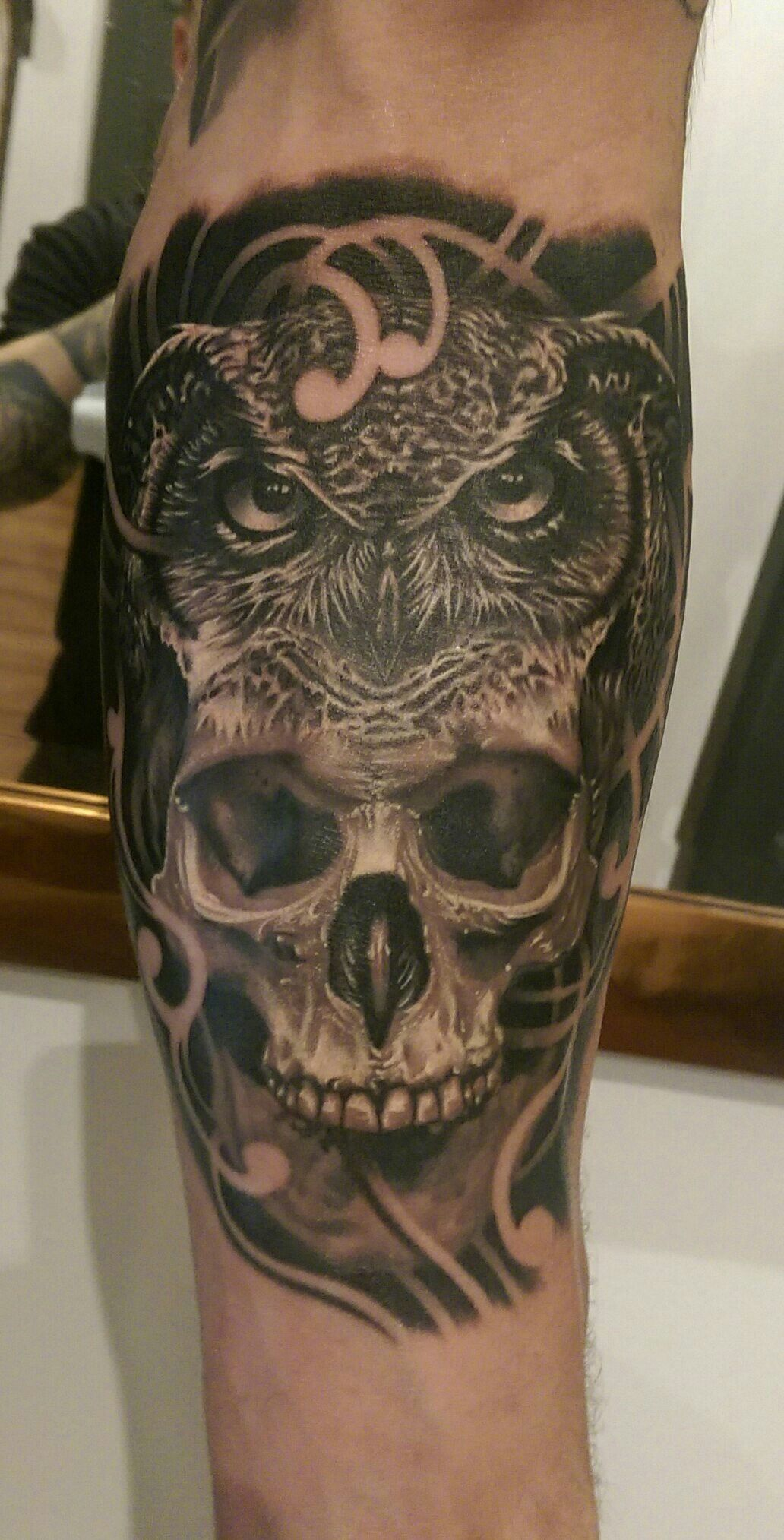 pictures 50 Owl Skull Tattoo Designs For Men – Cool Ink Ideas