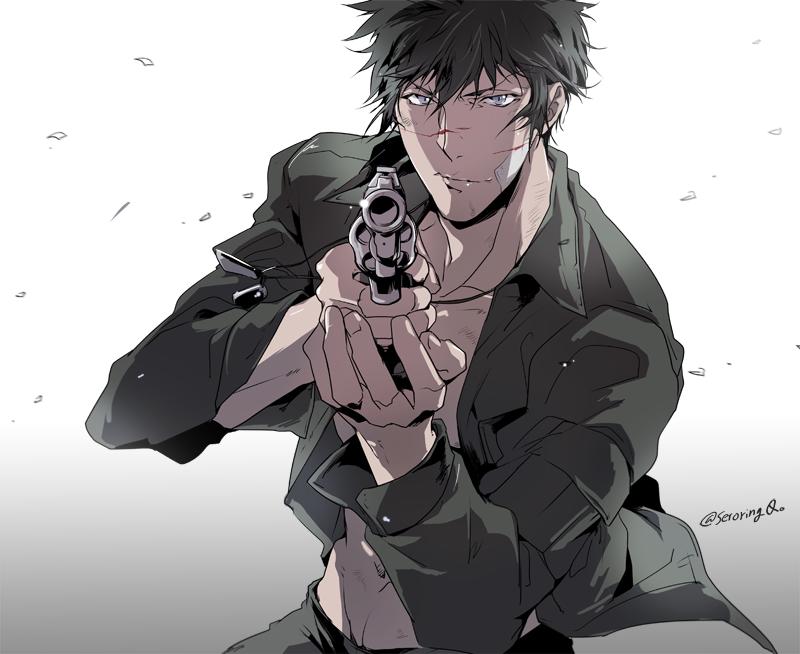 コウガミさん Kougami PsychoPass anime ワールドトリガー イラスト, イラスト