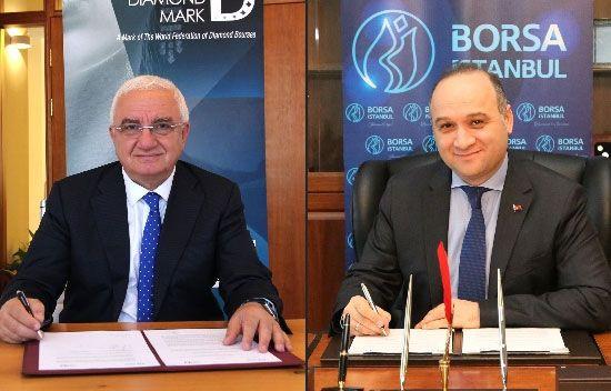 Borsa İstanbul'dan işbirliği - Borsa İstanbul ile Dünya Elmas İşareti Kuruluşu, elmas ve elmaslı mücevherlerin tanıtımı için işbirliği yapacak