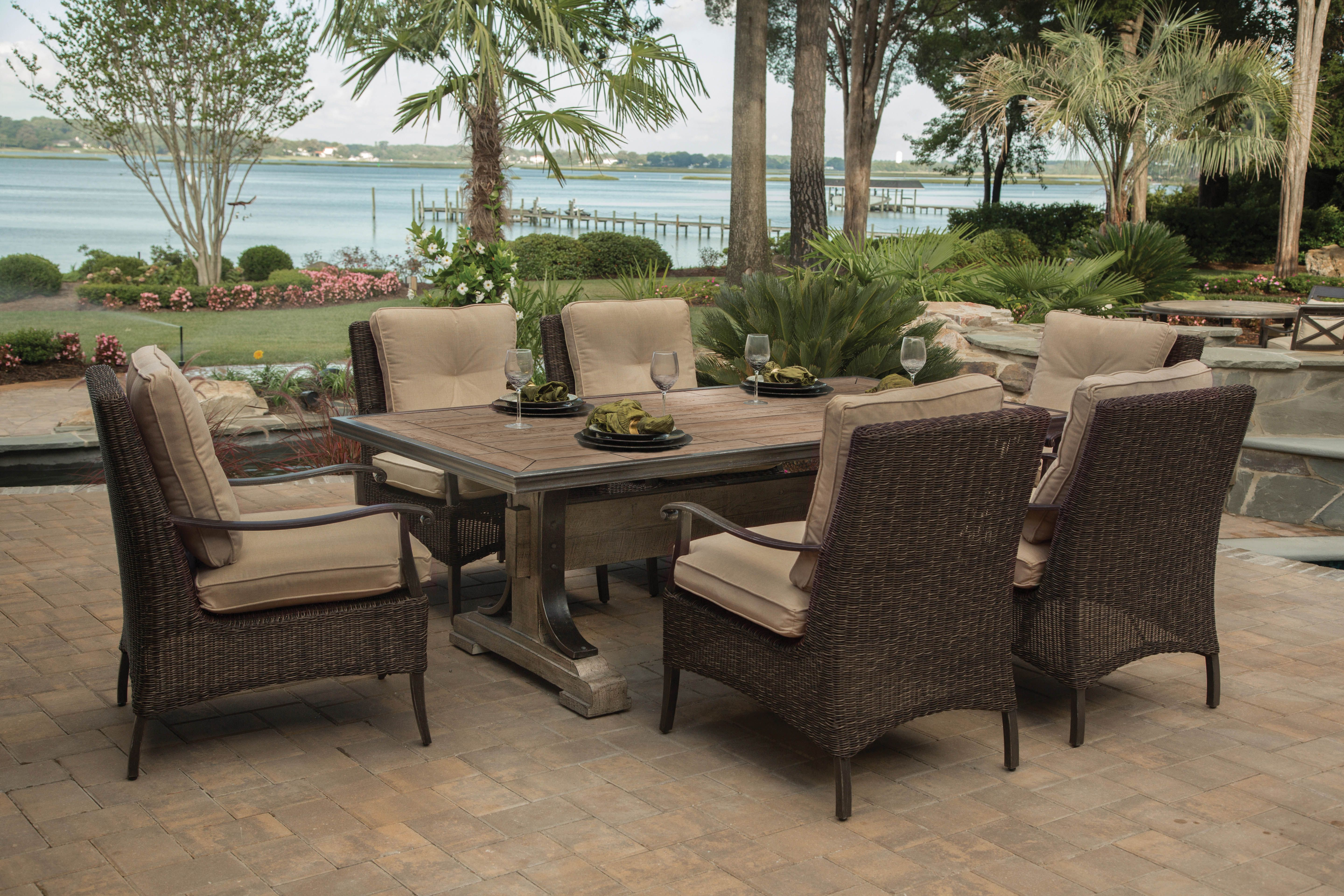 Great Agio International Franklin 7 Piece Outdoor Dining Set