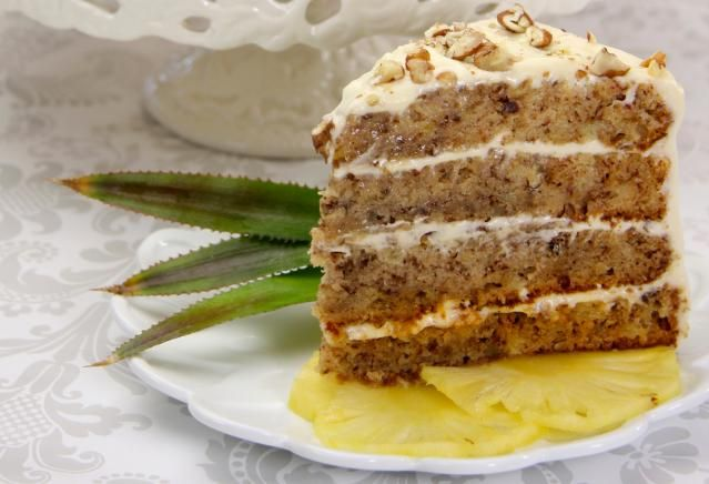 A Hummingbird Cake Recipe With Pecans Bananas Cinnamon And Cream Cheese Frosting