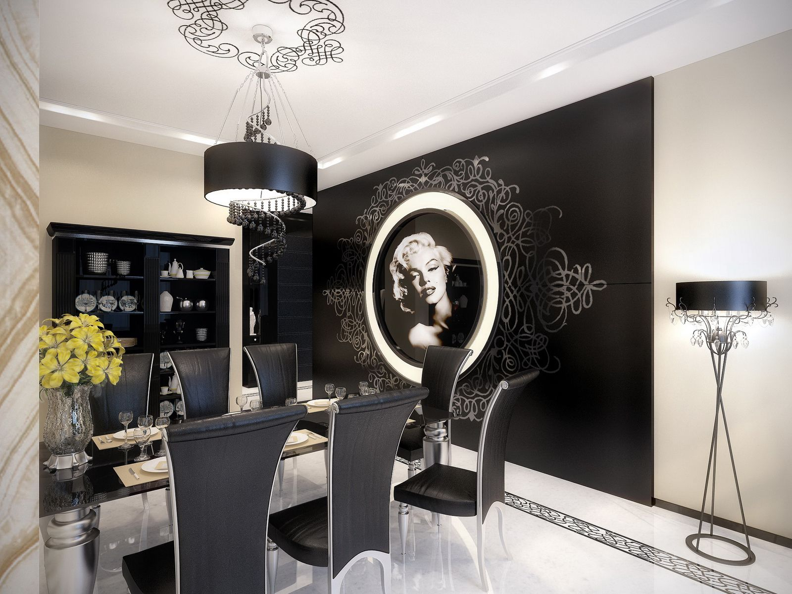 The Uniqueness of a Black And White Modern-Baroque Apartment ...