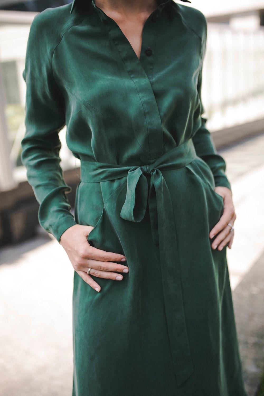 5f83c6a3b93 Шелковое платье-рубашка – купить в интернет-магазине на Ярмарке Мастеров с  доставкой