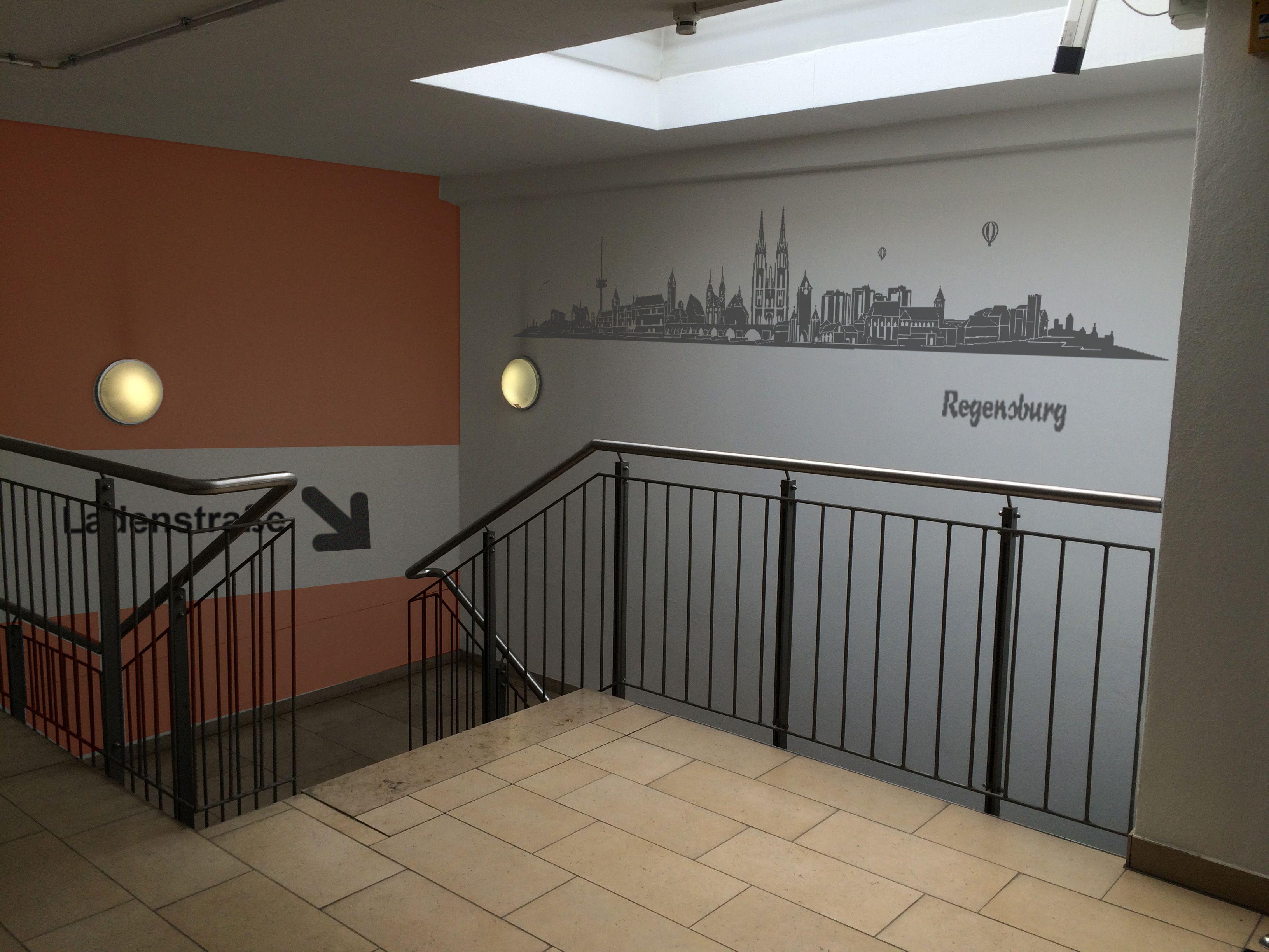 Treppenhausgestaltung in den #Regensburg #Arcaden - digitaler ...