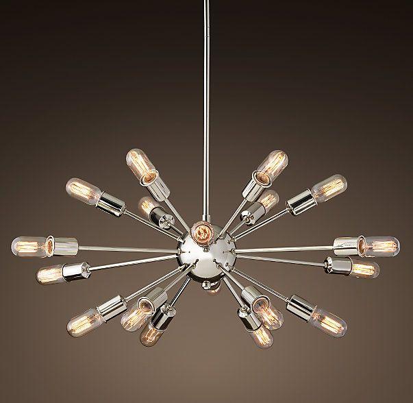 Sputnik Elliptical Filament Chandelier Living Room