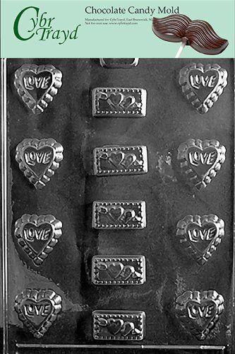 Cybrtrayd V044 Love Assortment Valentine Chocolate Candy Mold