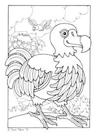 Dodo Dandi Palmer Free Printable Bird Coloring Pages