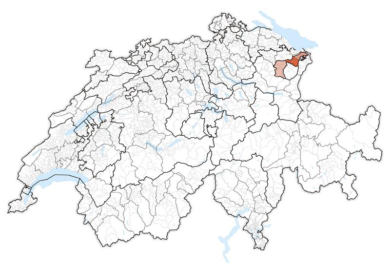 Location in Switzerland Map of Appenzell Ausserrhoden   CRISTIAN ...