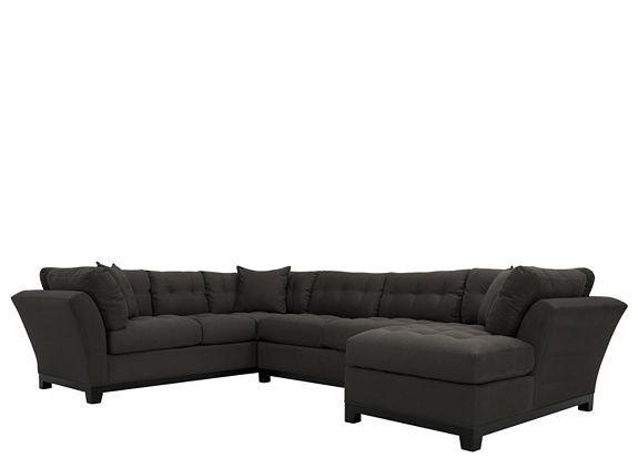 Cindy Crawford Home Metropolis 3 Pc. Microfiber Sectional Sofa