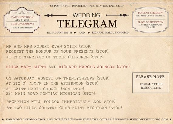 Telegram Invitation | For the day I become Mrs. Chappell ...