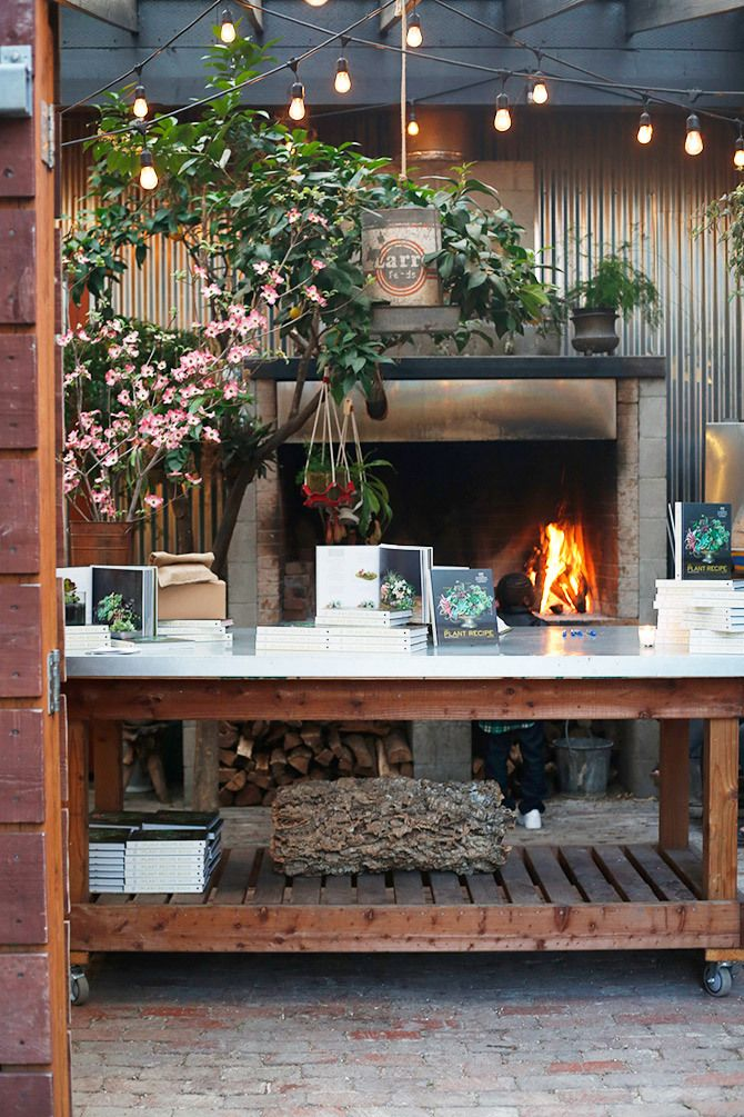 Lila B Design in the courtyard of Stable Cafe / San Francisco ...