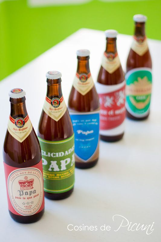 Regalo express para el día del padre etiquetas cervezas