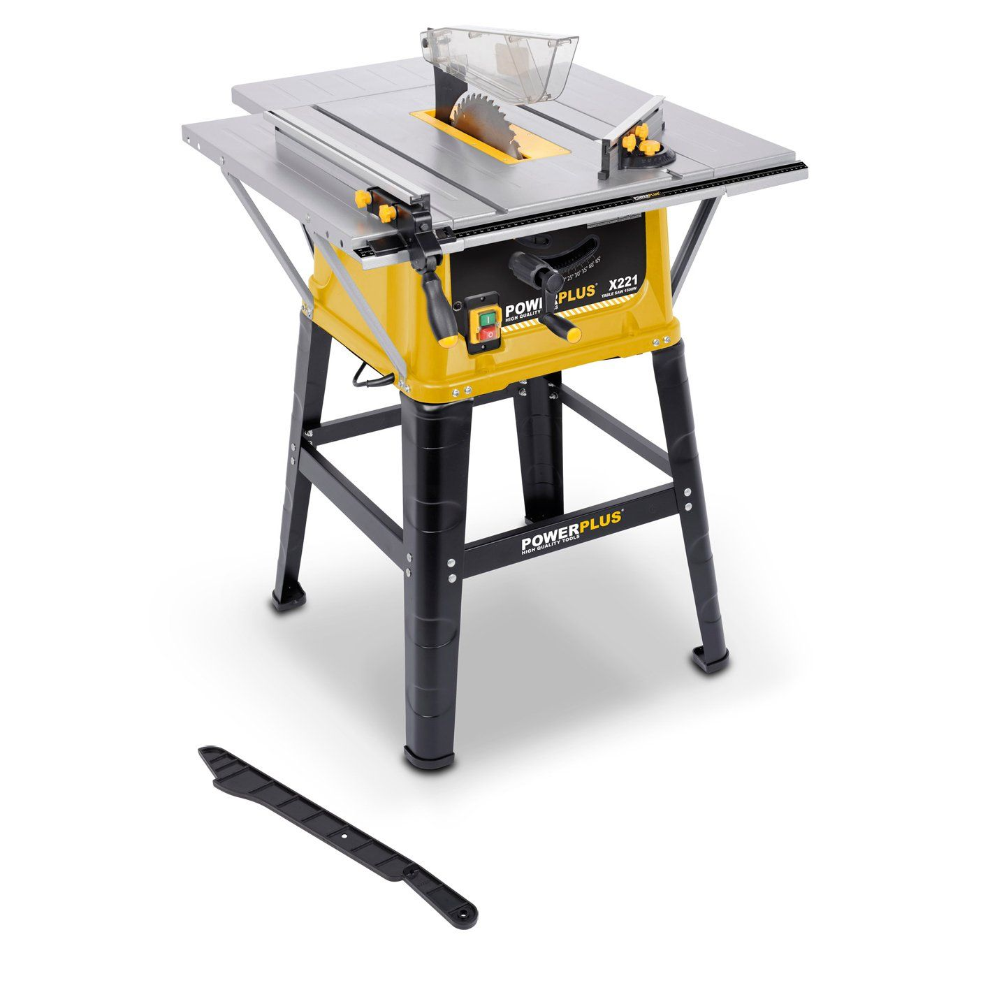 """Powerplus 1500 Watt, 254mm 10"""" Heavy Duty Table Saw Complete With Parallel Guide, Mitre Gauge and Stand POWX221 - 3 Year Home User Warranty: Amazon.co.uk: DIY & Tools"""