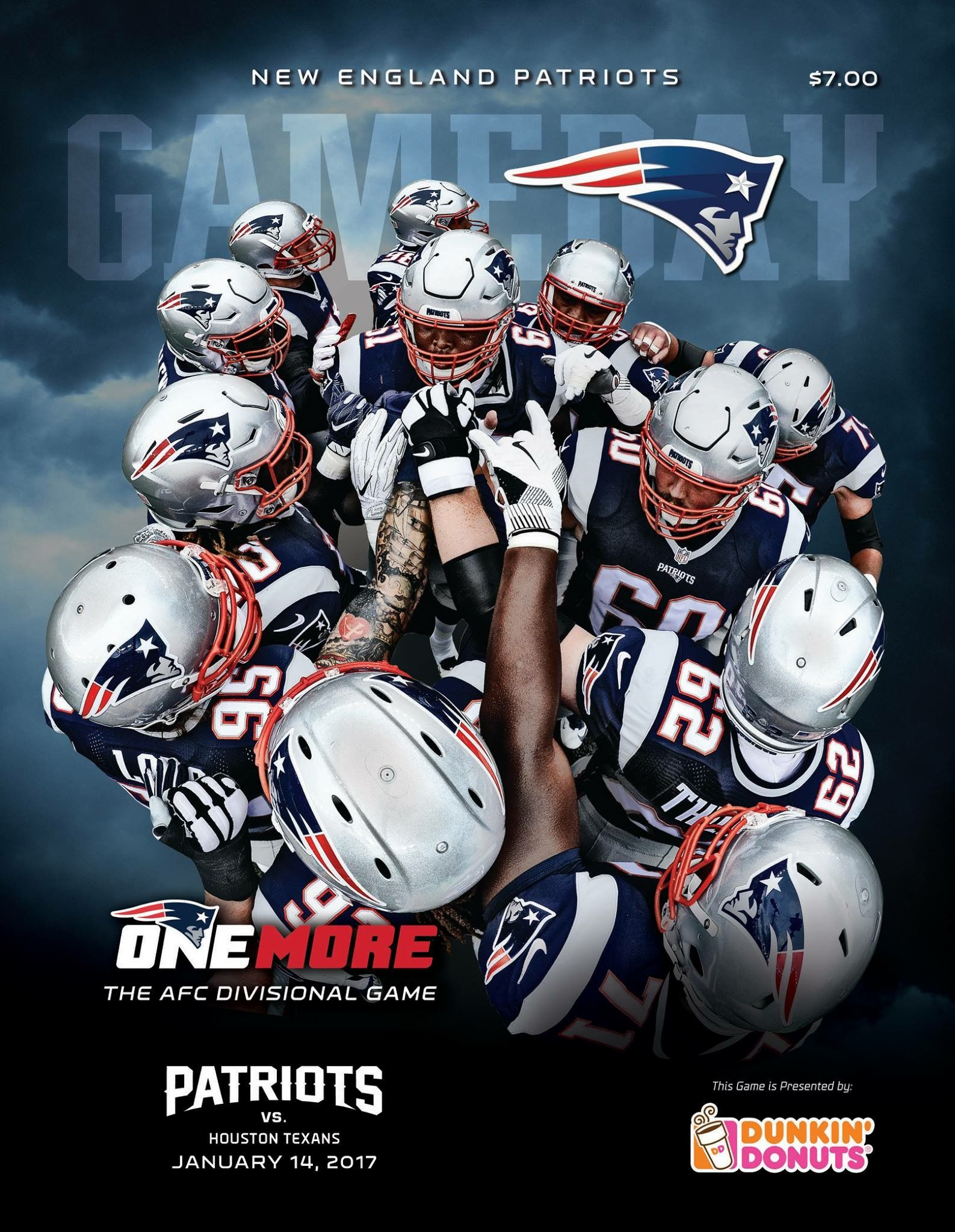Gameday Program Cover Houvsne Afc Onemore New England Patriots Merchandise New England Patriots Patriots Fans