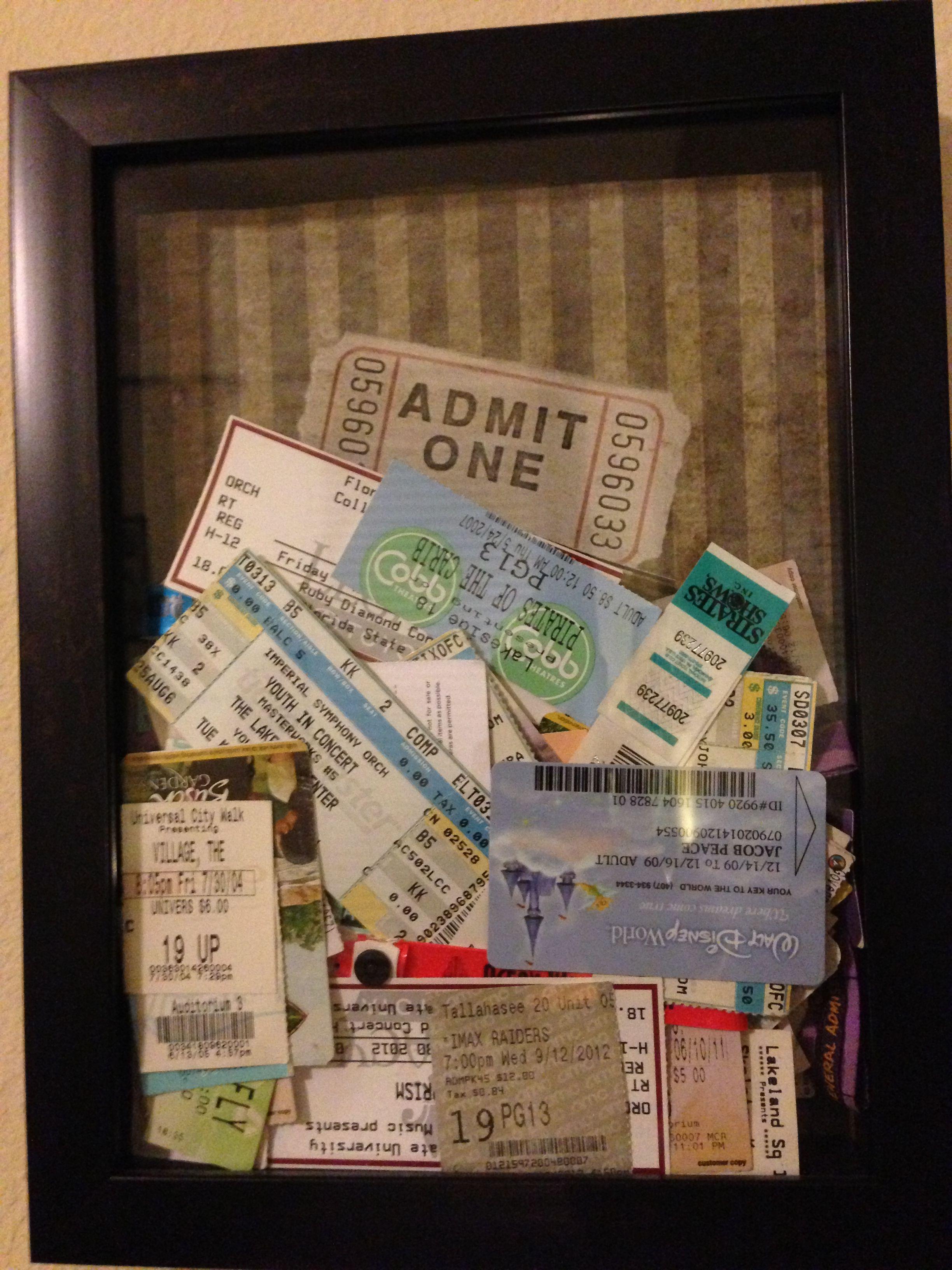 Ticket Stub Memory Box Crafty Diy Projects Diy
